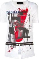 DSQUARED2 open slit zip T-shirt - women - Cotton - S