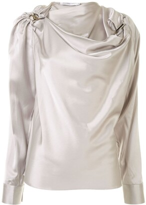 CHRISTOPHER ESBER Orbit draped blouse