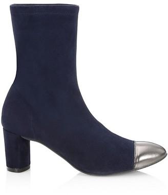 Stuart Weitzman Fernanda Cap-Toe Suede Sock Boots