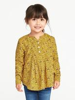 Old Navy Mandarin-Collar Pintuck Tunic for Toddler Girls