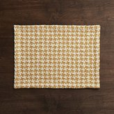 Crate & Barrel Houndstooth Amber Placemat