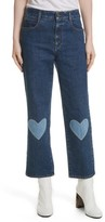 Stella McCartney Women's Heart Patch High Waist Crop Jeans