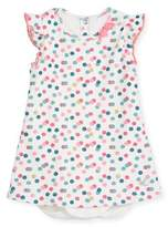 Petit Bateau Polka-Dot Bodysuit Dress, Size 3-24 Months