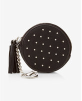 Express round stud embellished coin holder
