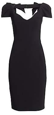 Gustavo Cadile Women's V-Neck Bow Shoulder Cocktail Dress