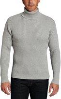 Alex Stevens Men's Ribbed Turtlneck Sweater, Light