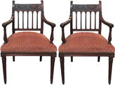 One Kings Lane Vintage Velvet Mahogany Armchairs, Pair