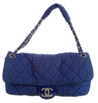 Chanel Textured Nylon Flap Bag