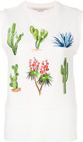 Stella McCartney embroidered sweatshirt top - women - Cotton - 38