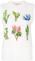 Stella McCartney embroidered sweatshirt top - women - Cotton - 42