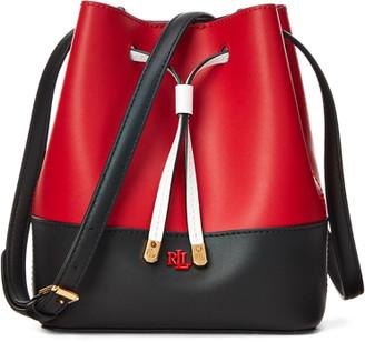 Ralph Lauren Leather Debby II Drawstring Bag