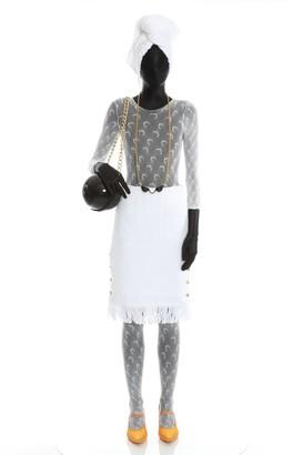 Marine Serre White Towel Skirt