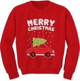 TeeStars - Merry Christmas Xmas Tree on Car Cute Xmas Toddler/Kids Sweatshirts