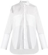 Palmer Harding PALMER//HARDING Double-cuff cotton-blend shirt