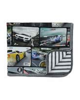 Molo Niles Jersey Car-Print Blanket
