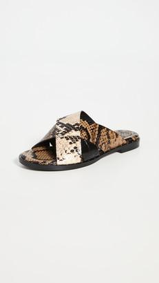 Freda Salvador Dew Cross Strap Sandals