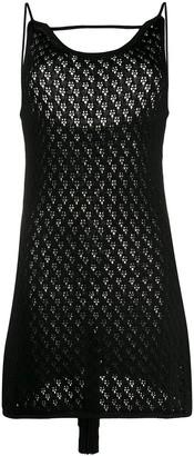 Jil Sander Crochet Knit Midi Dress