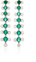 Amrapali Long Earrings with Emerald & Diamond