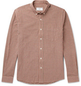 Ami Slim-fit Button-down Collar Gingham Cotton Oxford Shirt - Red