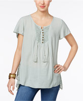 Style&Co. Style & Co Petite Crochet-Detail Top, Only at Macy's