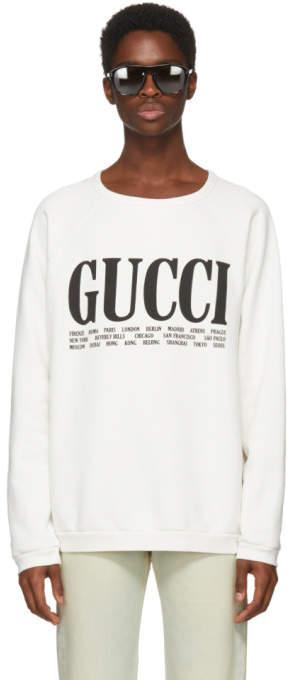 Gucci White Cities Sweatshirt