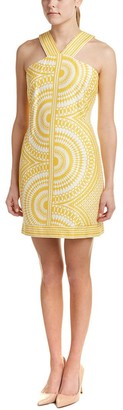 Taylor Dresses Women's V Neck Stretch Hopsak Kalediscope Print Halter Dress