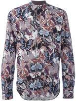 Valentino butterfly print shirt - men - Cotton - 42