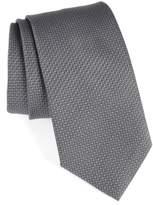 David Donahue Men's Solid Silk Tie