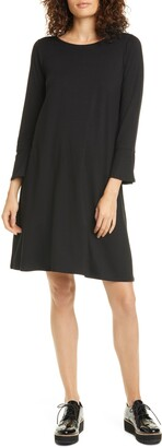 Eileen Fisher Bell Cuff Tencel Lyocell Blend Jersey Dress