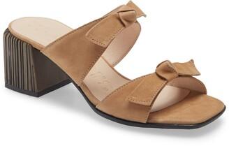 Wonders Block Heel Slide Sandal