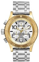 Nixon Women's '38-20 Chrono' Quartz Stainless Steel Casual Watch, Color:Silver-Toned (Model: A4042187-00)