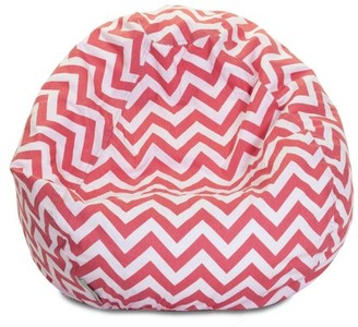Majestic Home Goods Chevron Cotton Large Classic Bean Bag Chair, Multiple Colors