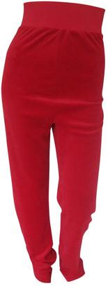 Vetements Red Velvet Trousers