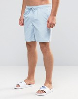 Asos Swim Shorts In Washed Blue Mid Length