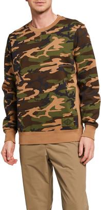 Ovadia & Sons Men's Dune Combination Camo Crewneck Sweatshirt