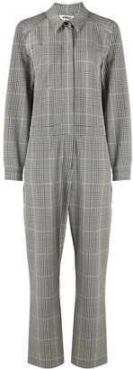 YMC Plaid Straight-Leg Jumpsuit