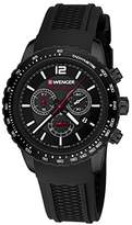Wenger Unisex Analogue Watch with Black Dial Analogue