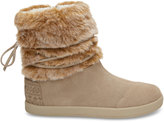 Toms Oxford Tan Suede/Faux Fur Youth Nepal Boots