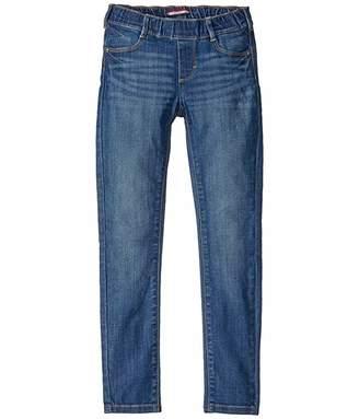 Tommy Hilfiger Adaptive Girls' Seated Skinny Jeans with Adjustable Waist and Magnetic Hem (Toddler/Little Kids/Big Kids)