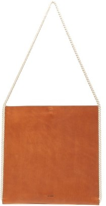 Jil Sander Rope-handle Leather Tote Bag - Mens - Brown