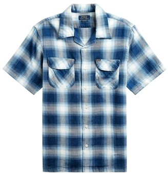 Polo Ralph Lauren Cotton-Twill Checkered Short-Sleeve Button-Front Shirt
