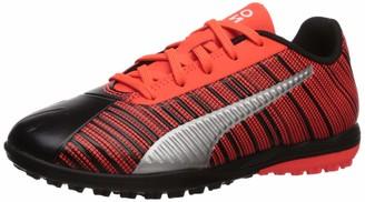 Puma Men's ONE 5.4 TT JR Sneaker Black-Red Red Aged Silver 12.5 M US Little Kid
