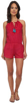 Sofia by Vix Vix Solid Cherry Embroidered Cali Jumpsuit Cover-Up
