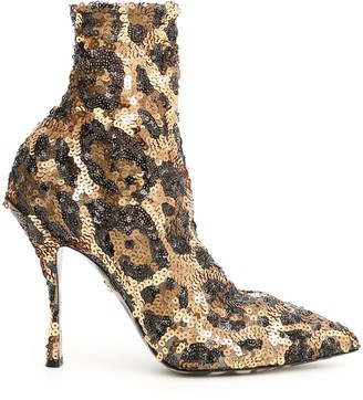 Dolce & Gabbana Lori Sequinned Ankle Boots
