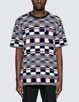 White Mountaineering Multi Logo Check Jacquard Half T-Shirt
