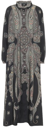 Etro Exclusive to Mytheresa - Printed wool and silk maxi dress