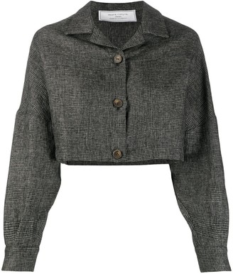 Societe Anonyme Cropped Checked Jacket