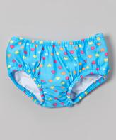 Sweet & Soft Blue Hearts Swim Diaper - Infant