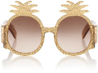 Gucci Embellished round sunglasses