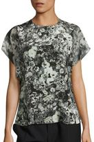 Lanvin Pansy Short Sleeve Top